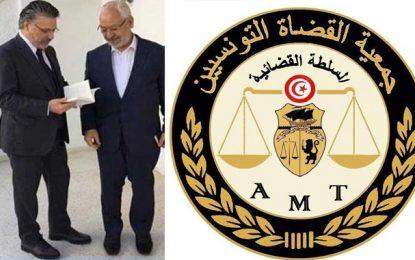 Ghannouchi affirme que Karoui est innocent : L'Association des magistrats répond
