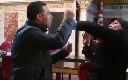 Nouvelle agression d'Abir Moussi par Seifeddine Makhlouf à l'Assemblée (Vidéos)
