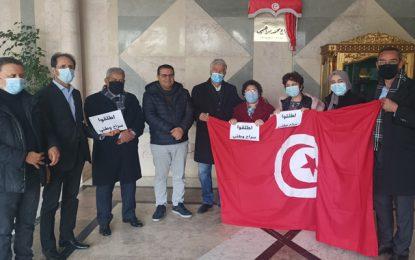 La militante Radhia Nasraoui en visite de solidarité aux députés en sit-in à l'Assemblée (Photos)