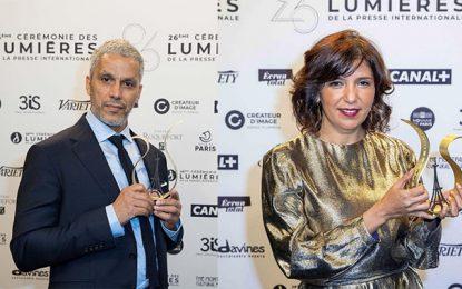 Kaouther Ben Hania et Sami Bouajila primés à la Cérémonie des Lumières de la presse internationale