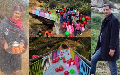 Jendouba : Karim Arfa construit un pont à Ouled Slama et rend le sourire aux enfants du village (Photos)