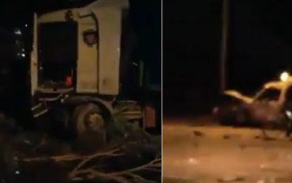 Radès : Un mort et 4 blessés dans une collision entre un camion et 3 voitures
