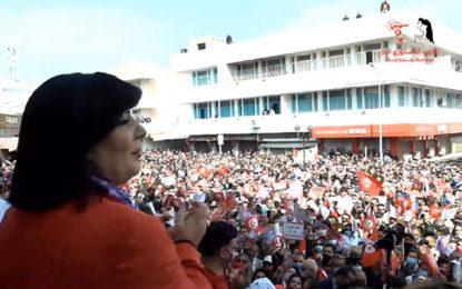 Abir Moussi en meeting à Béja : «Les islamistes ont démantelé le secteur agricole»