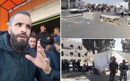 El-Kamour : Des routes bloquées et Haddad appelle à manifester «pour faire dégager» le gouverneur de Tataouine