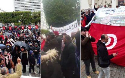 Marche de soutien au président Saïed à Tunis : Les manifestants appellent à la dissolution du parlement