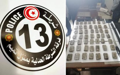 Menzel Temime : Saisie de 49 plaquettes de cannabis et arrestation de 5 suspects