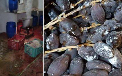 Saisie de 15 tonnes de dattes avariées à Ben Arous et 1 tonne de volaille à Raoued (Photos)
