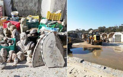 Raoued : Découverte de pièces archéologique lors d'une campagne de démolition de constructions illégales (Photos)