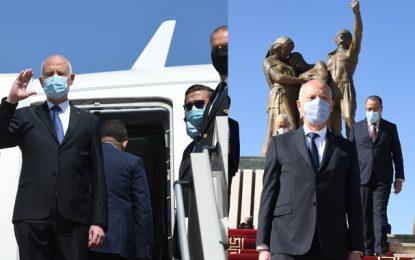 Après avoir célébré la fête des martyrs à Sijoumi, le président Saïed se rend en Égypte pour une visite officielle (Photos)