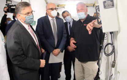 Don américain de deux tentes d'isolement pour l'hôpital Mongi Slim à la Marsa (Photos)