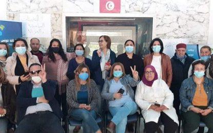 Les journalistes de la Tap en grève le 22 avril, pour appeler le gouvernement à revenir sur la nomination de Ben Younes
