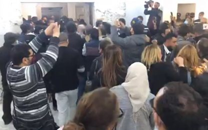 Tentative d'investiture de Kamel Ben Younes : La police pénètre dans les locaux de la Tap (Vidéo)