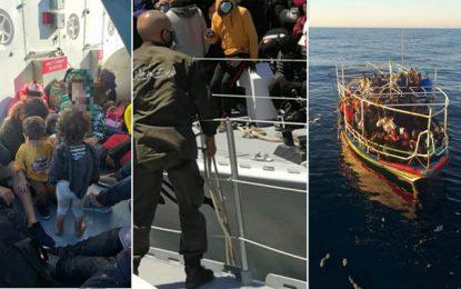 Migration : 215 personnes dont 9 enfants et 42 femmes, interceptées au large de Sfax