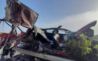 Béja : Quatre morts et 5 blessés dans un accident de la route