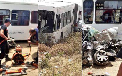 Deux décès et 4 blessés dans une collision entre un véhicule et un bus de la Sté de transport du Sahel