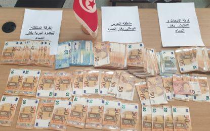 Trafic de devises : Un suspect arrêté à Ghardimaou (Photos)
