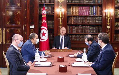 Le président Saïed et ses quatre convives