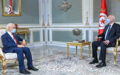 Le président Saïed reçoit Ghannouchi au Palais de Carthage