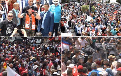 Le PDL manifeste au Bardo pour «libérer le parlement»