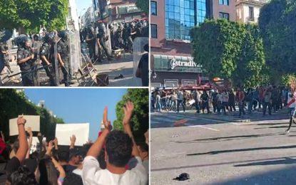 Tunis : Heurts entre la police et les manifestants à l'Av. Bourguiba (Photos)