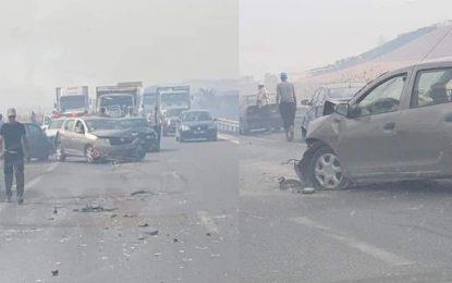 Neuf blessés dans un carambolage entre 8 voitures sur la route de Bizerte-Tunis