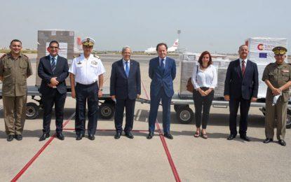Covid : La Tunisie réceptionne de nouvelles aides en provenance de l'Espagne (Photos)
