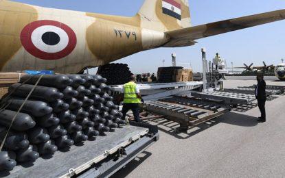 Solidarité Covid : La Tunisie réceptionne de nouvelles aides médicales en provenance de l'Égypte (Photos)