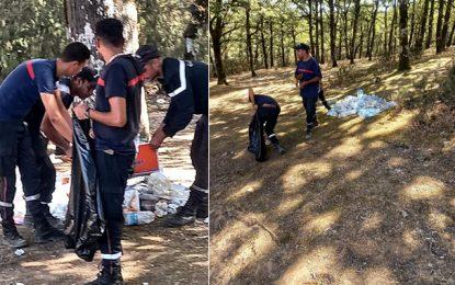 Jendouba : Après des jours de lutte, les pompiers maîtrisent les incendies et mènent une opération de nettoyage dans les forêts (Photos)