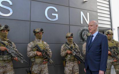 Tunisie : Le président Saïed se rend au siège de l'USGN à Bir Bouregba (Photos)