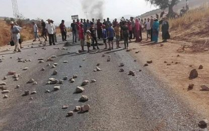 Jendouba : Arrestation de 3 manifestants ayant fermé la route à Aïn El Khararib