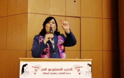 Abir Moussi : «Je suis solidaire avec la cheffe du gouvernement Najla Bouden…»