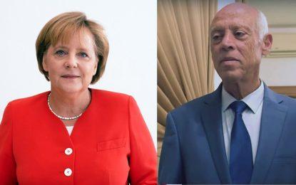 Angela Merkel à Kaïs Saïed : «Un retour à la démocratie parlementaire en Tunisie est essentiel»
