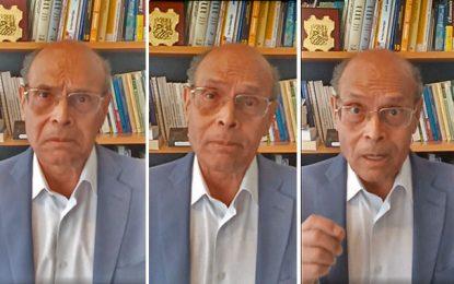 Depuis Paris, le mégalomane Moncef Marzouki fait la leçon aux Tunisiens !