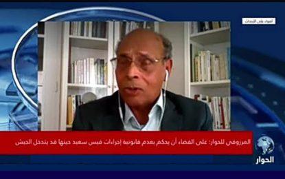 Marzouki, un clown triste à l'assaut de la citadelle Saïed (Vidéo)
