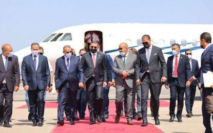 Le chef du gouvernement libyen Abdelhamid Al-Dabaiba arrive à Tunis pour une visite officielle (Photos)