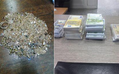 Aéroport Tunis-Carthage : Saisie de 3 kg de bijoux, 297.000 € et 29.000 $ en faux billets
