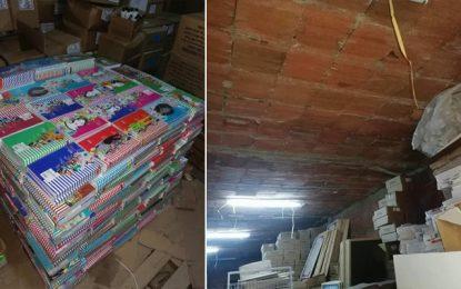 Tunisie-Ariana : Saisie de 12.200 cahiers subventionnés à la cité Ettadhamen (Photos)