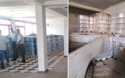 Spéculation : Saisie de près de 15.000 bouteilles d'eau minérale à l'Ariana (Photos)