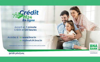 BNA Crédit H24 : accord en 1 minute, crédit en 24 heures (vidéo)