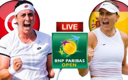 Ons Jabeur – Paula Badosa : Demi Finale Indian Wells en live streaming