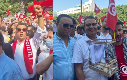 Tunisie : Les députés qui ont pris part à la manifestation de soutien aux mesures du président Saïed (Photos)